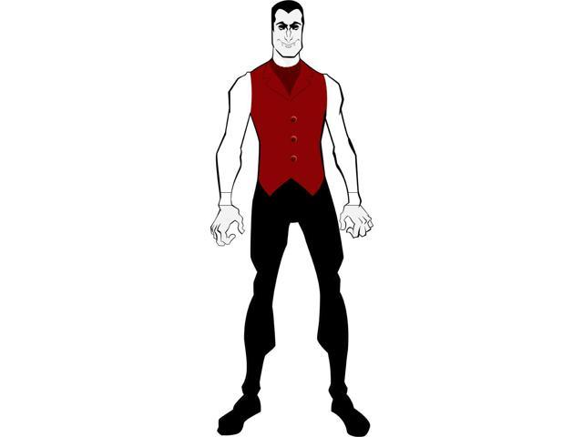 2nd Skin Costume Adult: Vampire X-Large