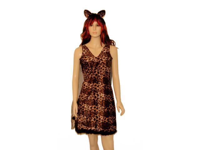Leopard Cat Dress Costume One Size