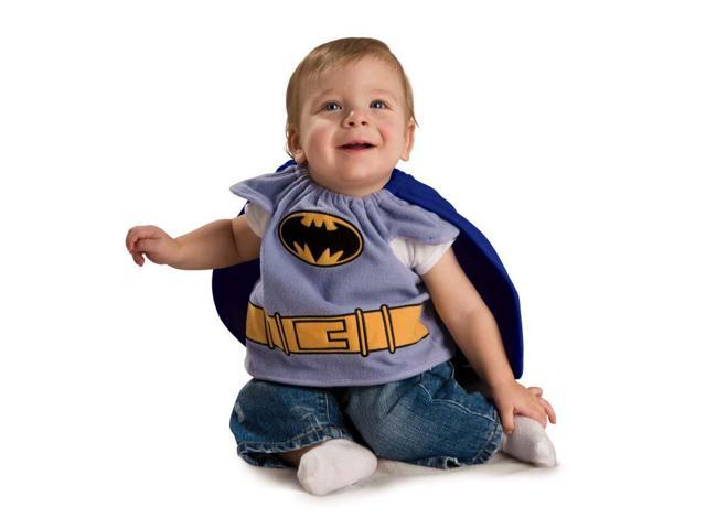 Batman Brave And Bold Batman Deluxe Baby Bib w/Cape Newborn