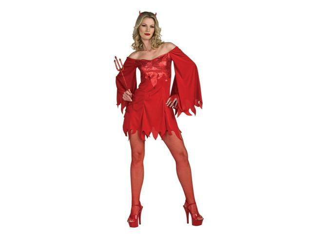 Lucifer Lady Devil Red Satan Costume Adult Standard