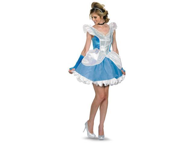 Disney Deluxe Sexy Cinderella Costume Dress Adult Large 12-14