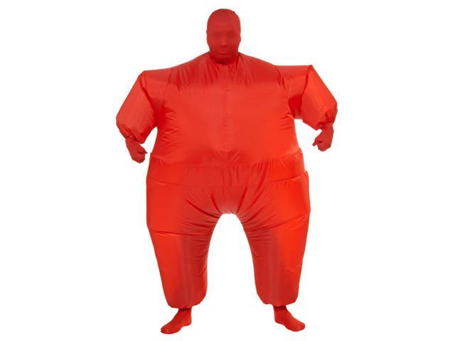 Inflatable Body Costume Adult: Red One Size Fits Most