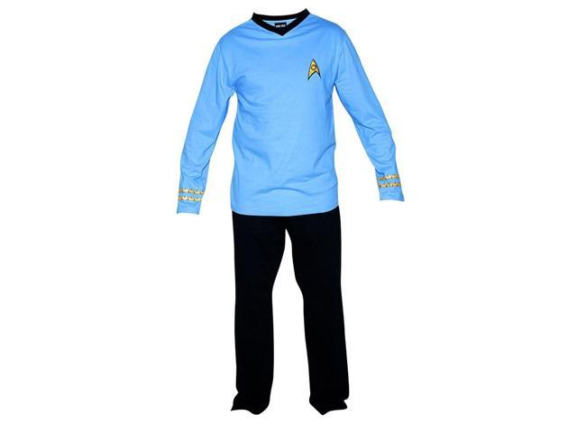 Star Trek Adult Spock Officer Uniform Blue Pajama Set Medium