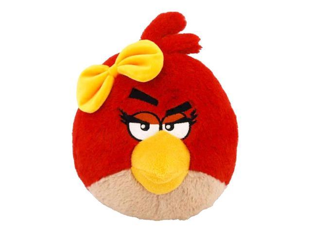 "Angry Birds 12"" Plush Girl With Sound: Red Bird With Yellow Bow"