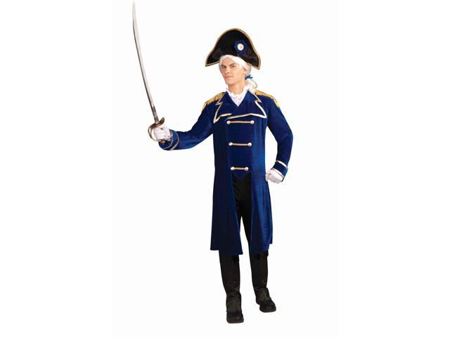 Colonial Admiral Costume w/Hat Adult Standard