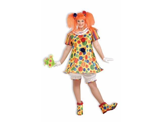 Giggles The Circus Clown Costume Dress Adult Plus Size