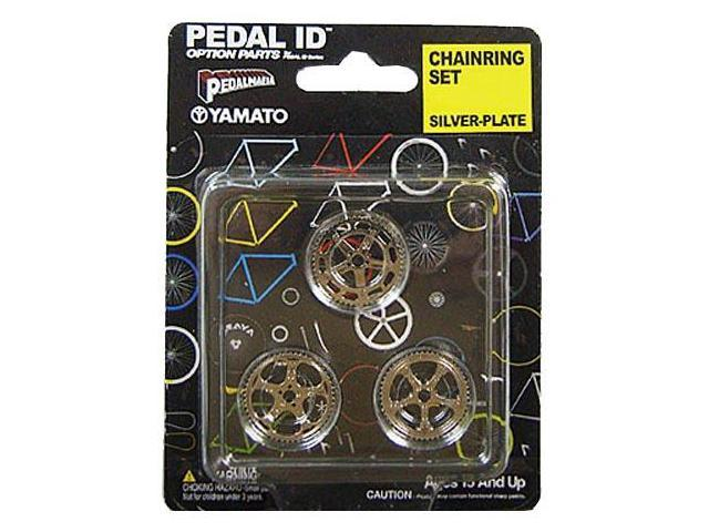 Pedal Id 1:9 Scale Bicycle: Chain Ring Set: Silver Plate