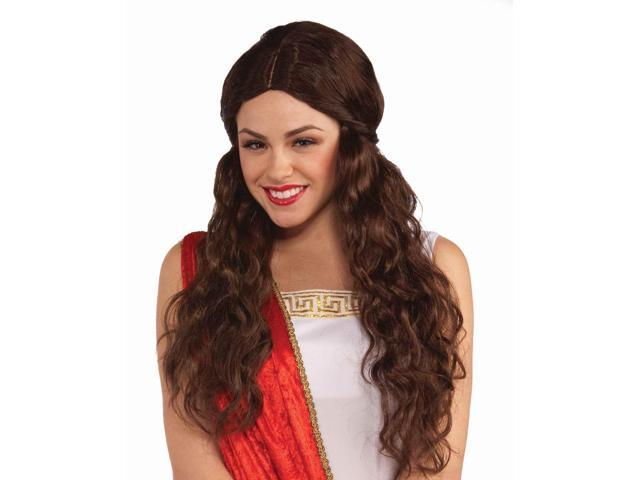 Brunette Venus Adult Costume Wig