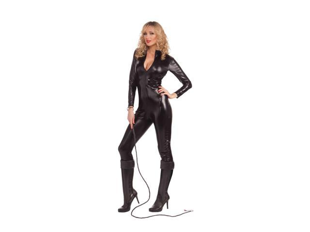 Sexy Feline Woman Black Bodysuit Adult Costume Medium