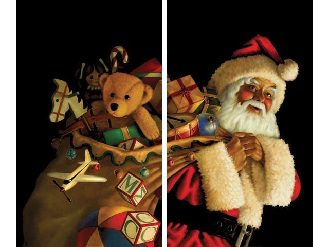 Santa Claus II With Toy Sack 2 x (36