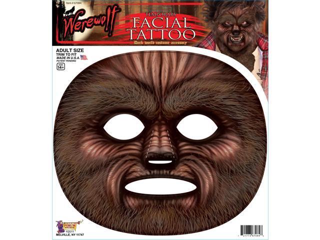 Werewolf Facial Tatt Facial Film Prosthetic Costume Makeup Accessory