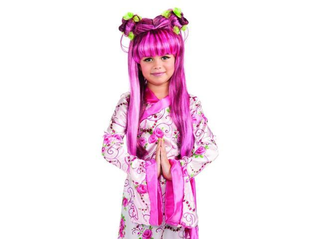 Pink Asian Princess Costume Accessory Wig Child