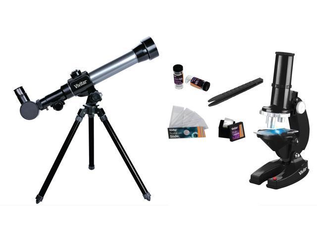 Vivitar Refractor Telescope W/Tripod And Microscope Set