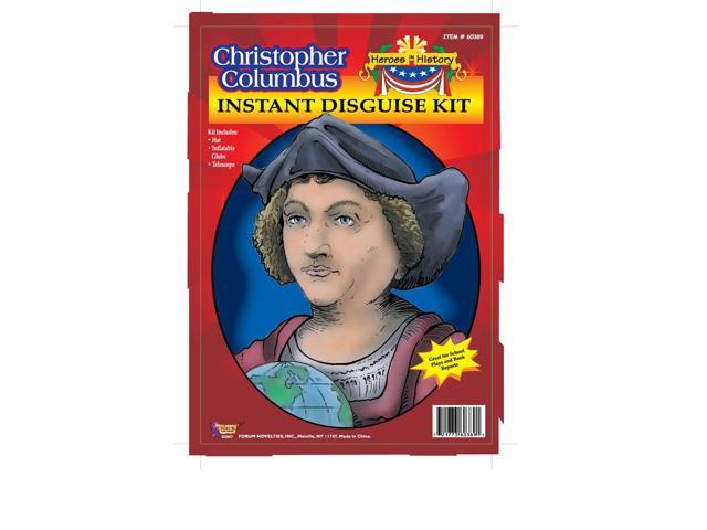 Christopher Columbus Hat, Globe & Telescope  Adult Costume Kit