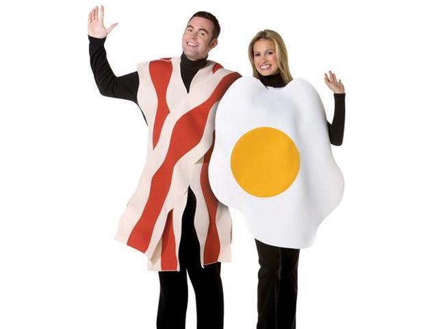 Bacon & Eggs Couples Adult Costume Standard