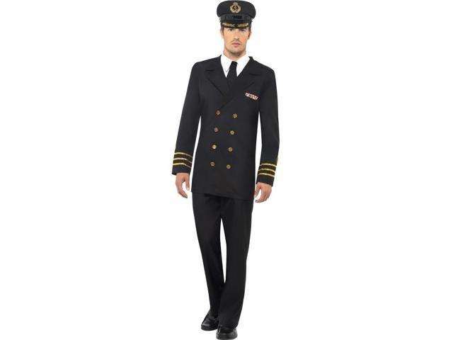 Navy Officer Pilot Deluxe Adult Costume Medium