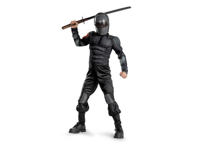 GI Joe Snake Eyes Muscle Jumpsuit Costume Child Small 4-6