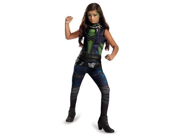 Guardians Of The Galaxy Marvel Classic Gamora Child Costume 4-6X