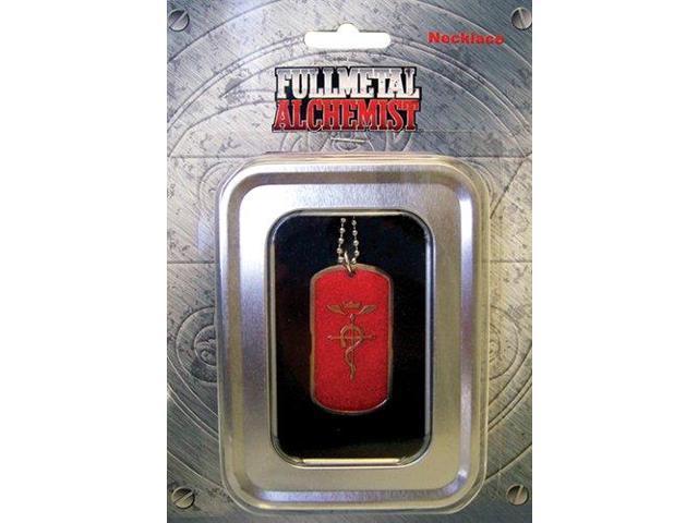Fullmetal Alchemist Flamel Symbol Dog Tag Necklace