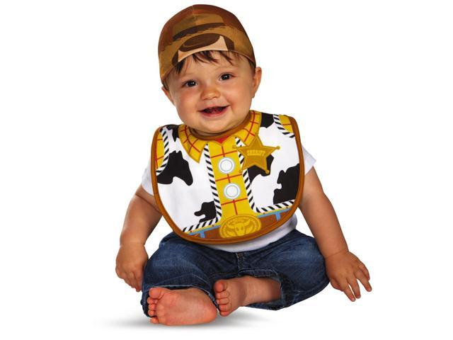 Pixar's Toy Story & Beyond Disney Woody Bib & Hat Child Infant Costume 0-6 Months