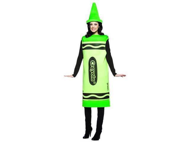 Green Crayola Crayon Costume Adult Small/Medium