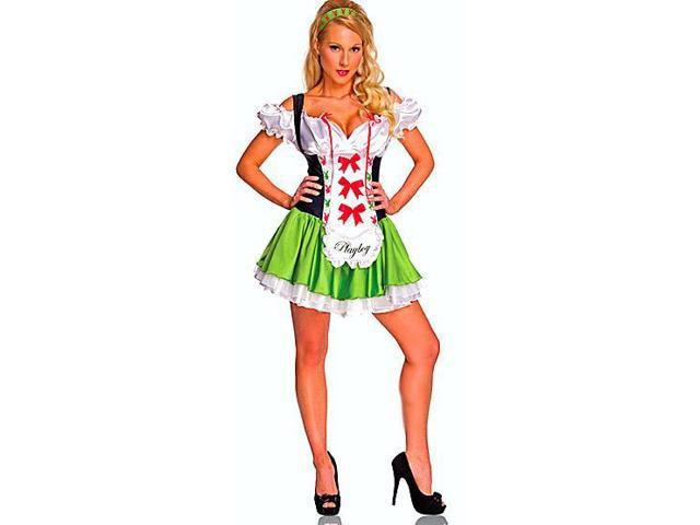 Playboy Sexy Tavern Beer Girl Dress Adult Costume Large