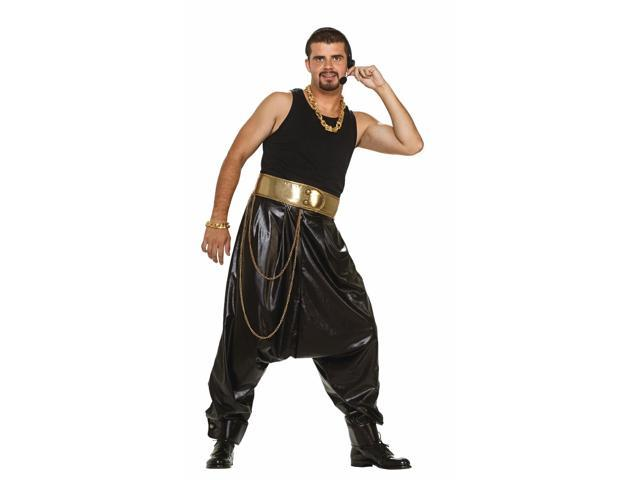 Rap Star Hammer Costume Black Pants Adult Standard