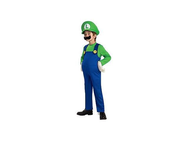 Super Mario Bros Deluxe Luigi Costume Toddler Large
