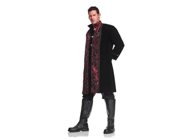Vampire Gothic Velvet & Satin Coat w/Pants Adult Costume Standard