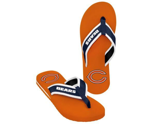 Chicago Bears NFL Mens Team Color Contour Flip Flops Medium (8-9)