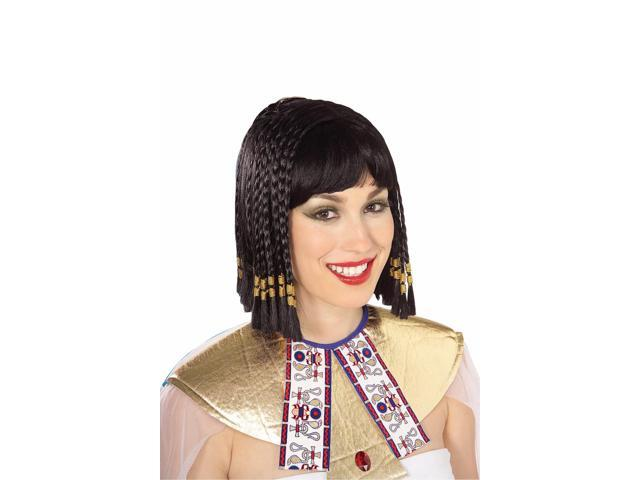 Queen Of The Nile Egyptian Cleopatra Adult Black Costume Wig