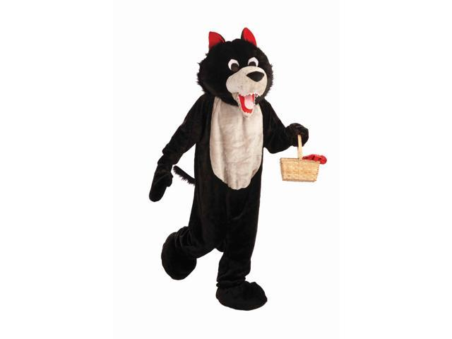 Deluxe Plush Wolf Mascot Costume Adult Standard