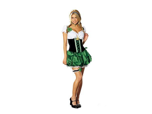 Sexy Maid St. Patricks Day Good Luck Charm Costume Adult Small