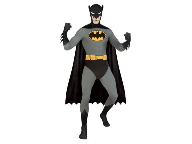 Batman 2nd Skin Black Jumpsuit Costume Adult Large 42-44