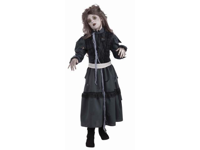 Zombie Girl Costume Dress w/Tattered Gauze Child Small 4-6