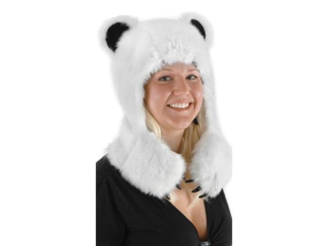 Polar Bear Hug Faux Fur Costume Hat