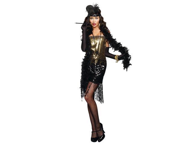 Dazzle Me Roaring 20's Flapper Adult Costume Large