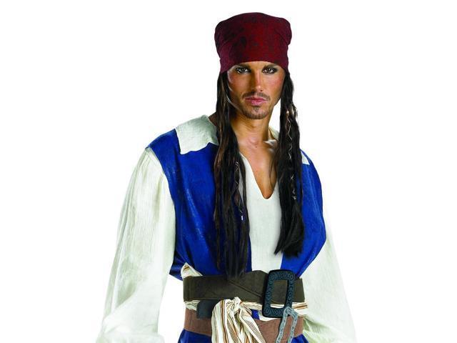 Pirates Caribbean Jack Sparrow Bandana/Hair Adult Costume Access