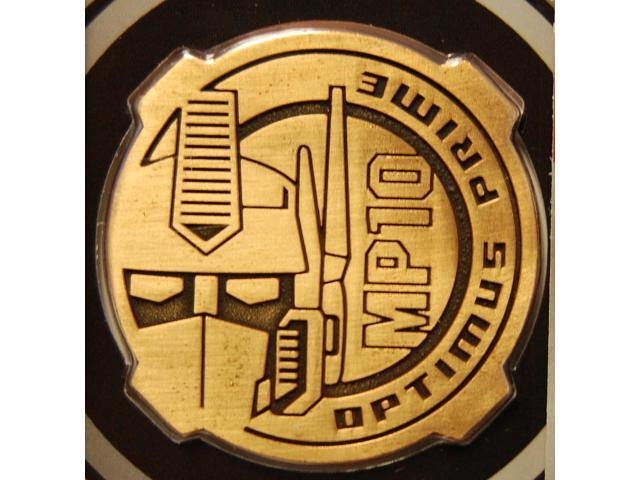 Transformers Masterpiece Mp-10 Optimus Prime Exclusive Collectors Coin
