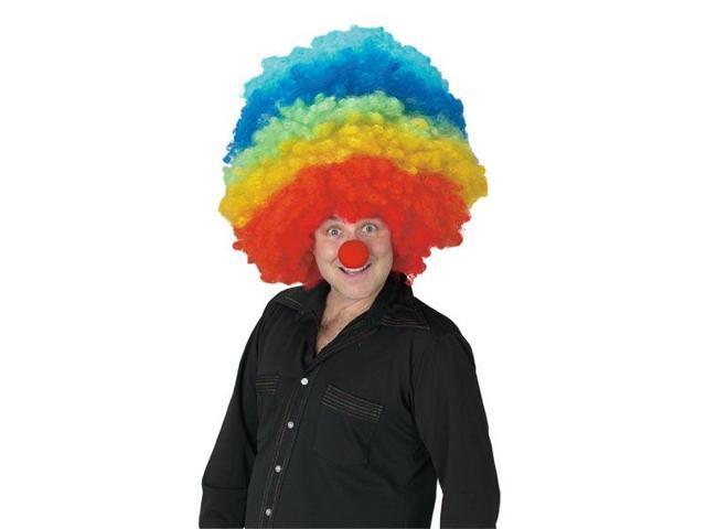 Mega Clown Multicolor Costume Wig