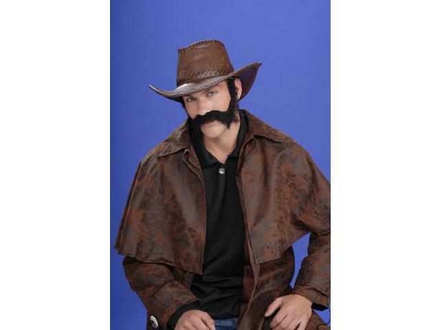 Civil War General Black Moustache & Beard Costume Set