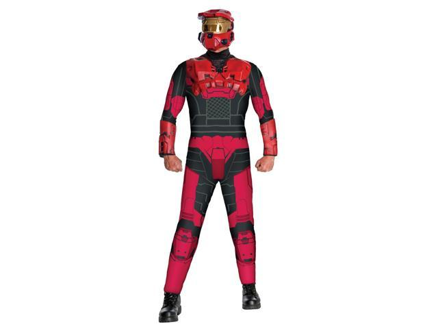 Halo Red Spartan Costume Adult One Size Fits Most Up To 44