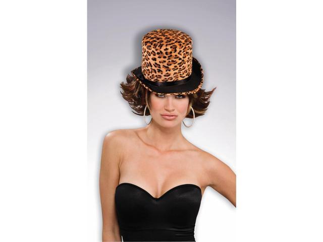 Plush Tiger Top Adult Costume Hat