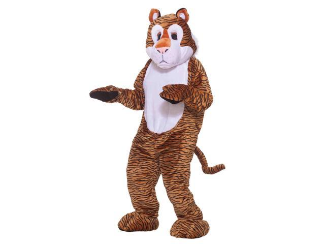 Deluxe Tiger Adult Mascot Costume One Size Fits Most