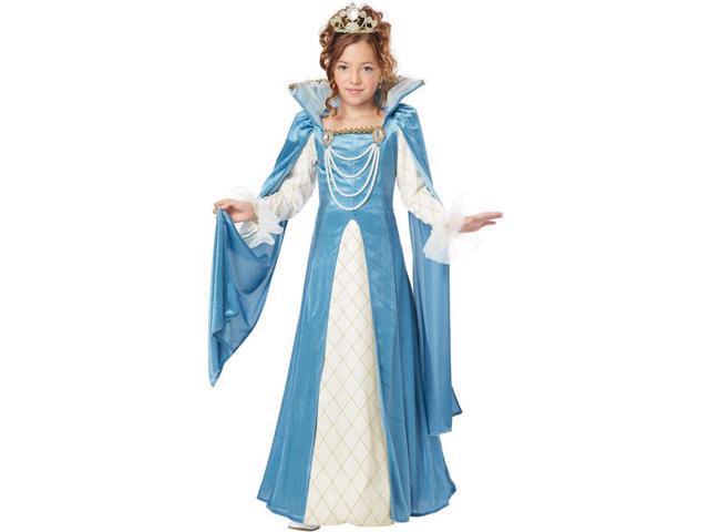 Renaissance Queen Costume Dress Child Small