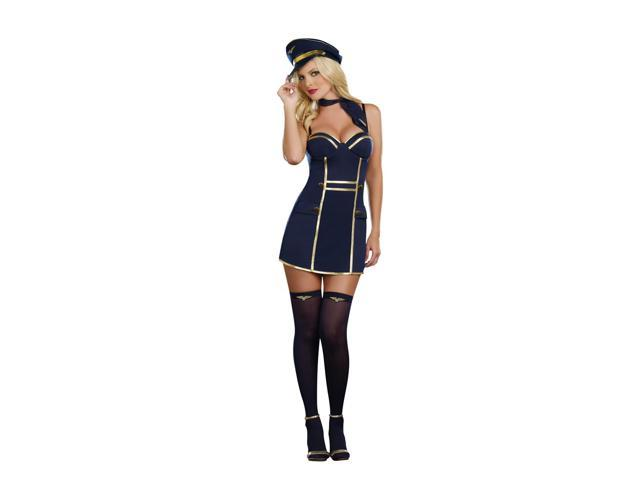 Sexy Up In The Air Pilot Costume Dress Adult X-Large