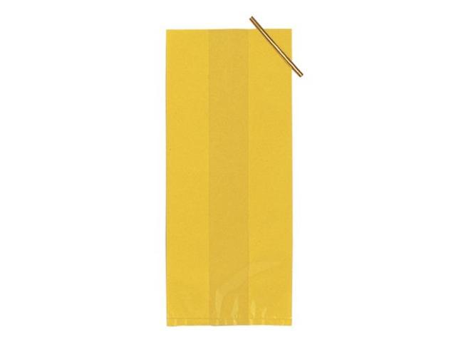 Treat Bags Pack Of 20 Small Cello Bags With Twist Ties Yellow