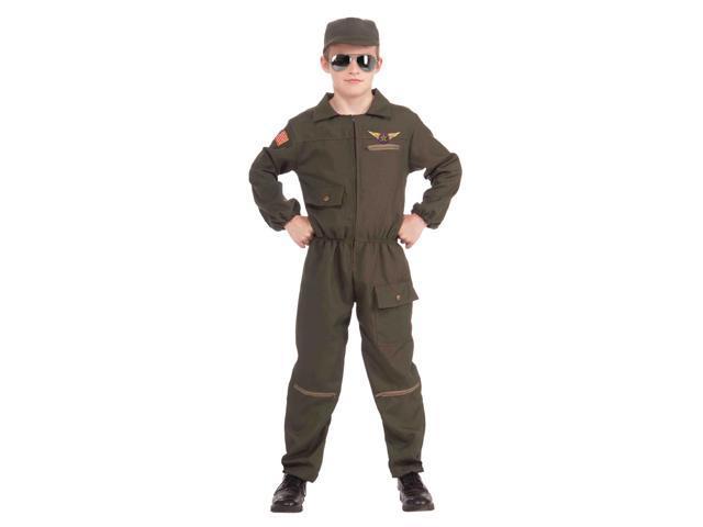 Fighter Jet Pilot Child Costume Large