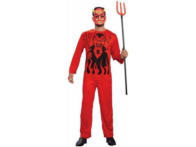Retro Classic Red Devil Costume Adult Standard