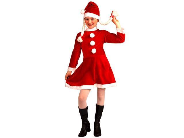 Lil Ms Santa's Helper Deluxe Costume Child Medium 8-10